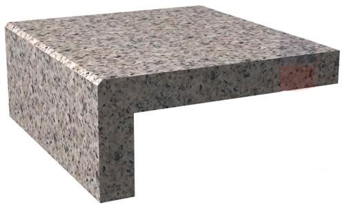 Bloque (elaborado a partir de gruesos de 2cm con frente en inglete) Solo en material Quarzo